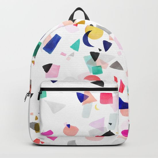 Party Confetti Backpack by Crystal Walen on Society6. #watercolor #confetti #Society6
