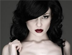 Raven hair is jet black hair, full of gloss and shine. Be warned Starlets, if you want this look, it takes a professional.  Block colour with no highlights whatsoever. Remember black is the hardest colour to remove from the hair, so don't take this step too lightly. Full commitment is required.