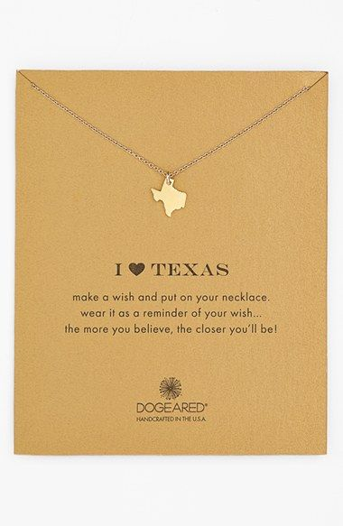 Free shipping and returns on Dogeared 'Reminder - I Heart Texas' Boxed Pendant Necklace at Nordstrom.com. Your favorite state is suspended from a delicate chain necklace as a reminder of home pride.