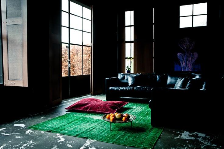 Blauwe Vloerbedekking Slaapkamer : Vintage #tapijten voor elke # ...