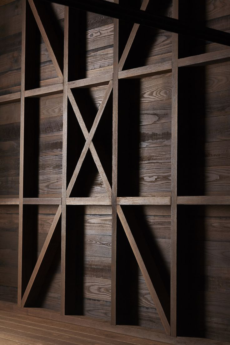 just-good-design: Paul's Shed - Nathalie de Leval Furniture - Thermo treated ash