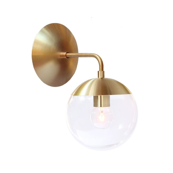 "Iconic midcentury reissued.  Authentic profiles made in brass exclusively for Cedar & Moss. Crafted with heavy gauge exclusive solid brass parts that have beautiful artisan finishes.  All fixtures are hand made to order. Learn about our finish options here.  Depth 8.5""  Length"