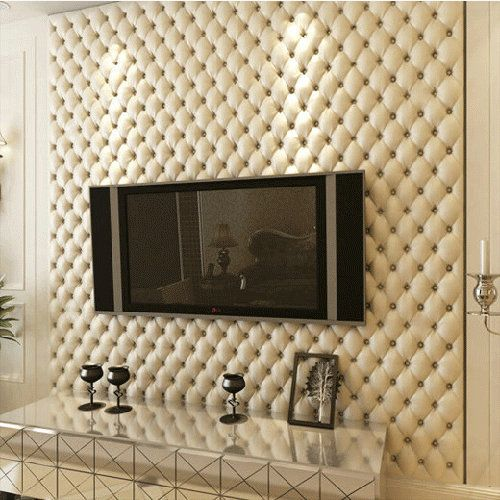 Luxurious imitation leather soft bag wall paper super 3d wall panels modern cellophane roll