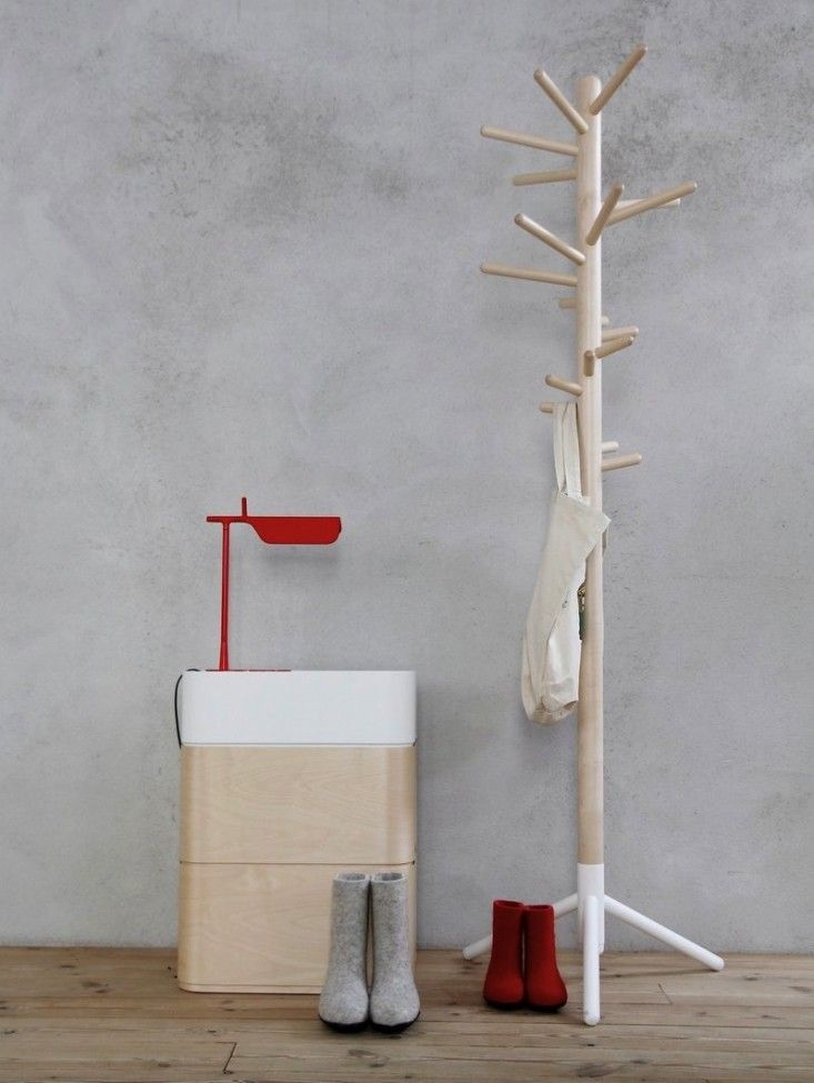 Where can I find these boiled wool boots? Artek wooden coat stand rack ; Gardenista