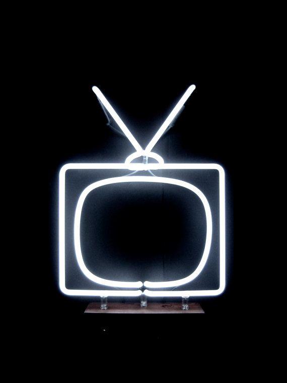 Neon Television by MarcusConradPoston on Etsy, $425.00
