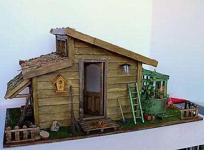 maison de poup e dollhouse chalet bois cabane maquette. Black Bedroom Furniture Sets. Home Design Ideas