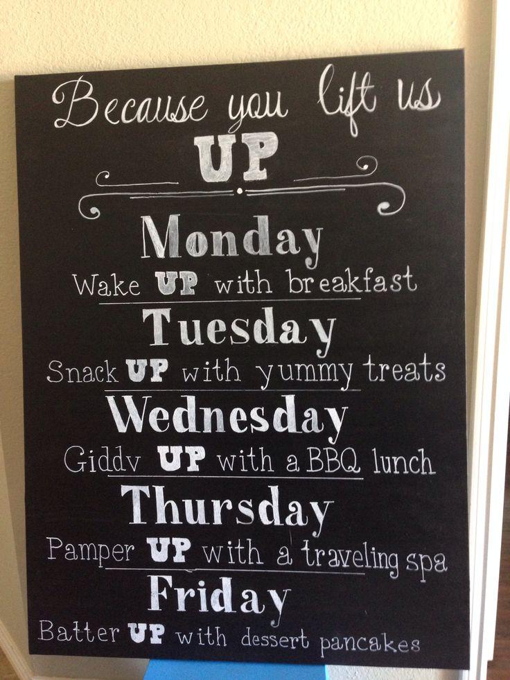 Teacher Appreciation week - UP theme