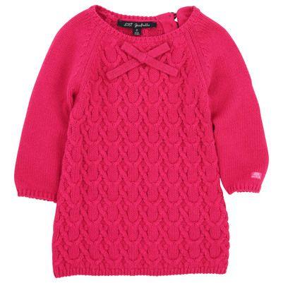 Lili Gaufrette - Azalea pink cable stitch knit dress - 53861