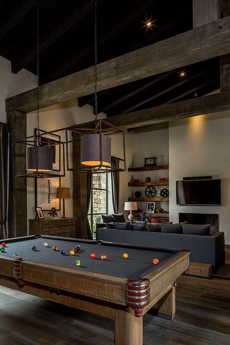 M s de 1000 ideas sobre sala de billar en pinterest for Ranch house con cantina