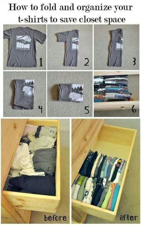 How too organize your dresser drawer a little better.