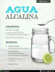Agua alcalina #remedioscaseros