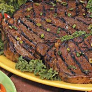 Grilled Ribeye Steaks Recipe ~ INGREDIENTS:     Soy sauce - Green onions - Brown sugar - Garlic cloves - Ground ginger - Pepper - Beef ribeye steaks