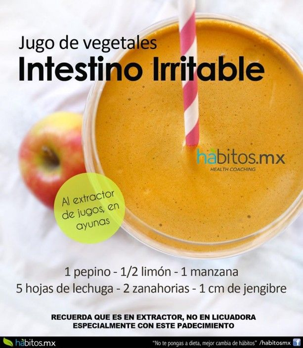JUGO DE VEGETALES INTESTINO IRRITABLE