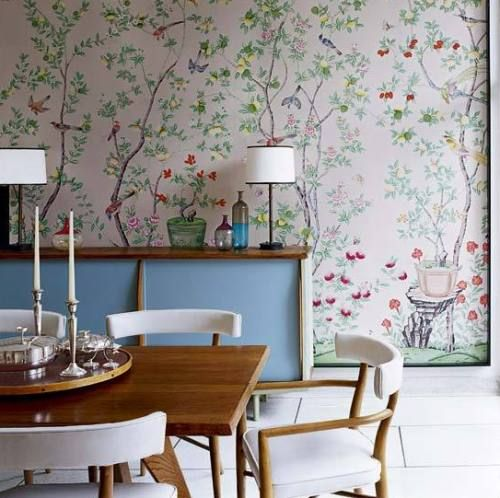 De Gournay In A Mid Century Dining Room. A Truly Inspired Conversation  Between Two