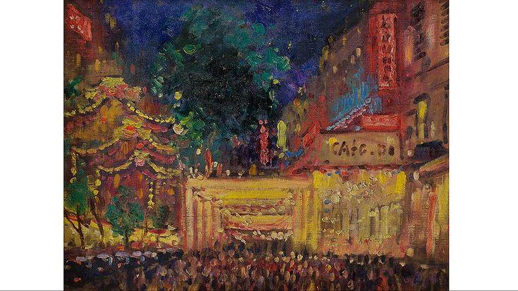 """Александр Герасимов. """"Монмартр ночью"""", 1934 год"""