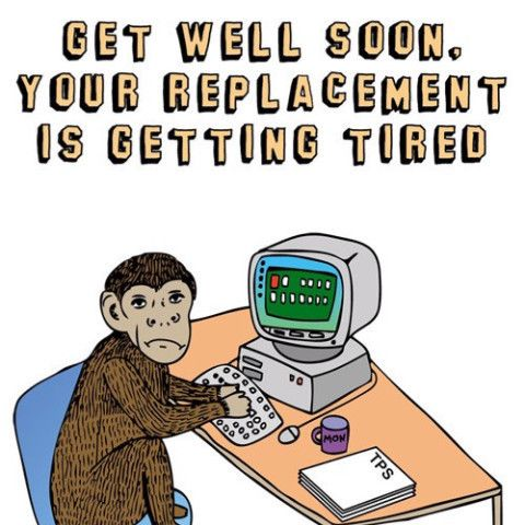 Able & Game Greeting Card - Get well soon ...