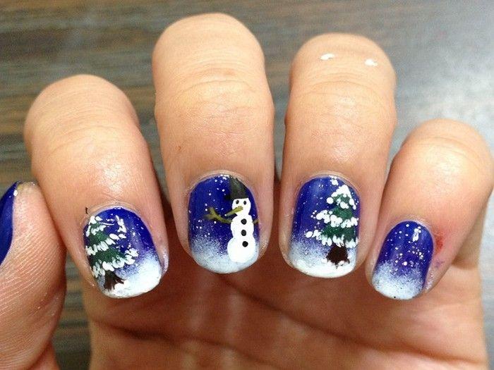unghie-natalizie-albero-di-natale-pupazzo-neve