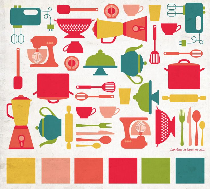 kitchen-print-illustration-color-palette-carolinejohansson