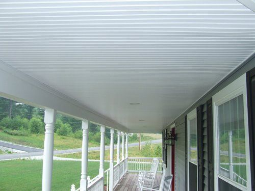 Using vinyl beadboard soffit for porch ceilings is a great way to add style and performance in an outdoor environment.