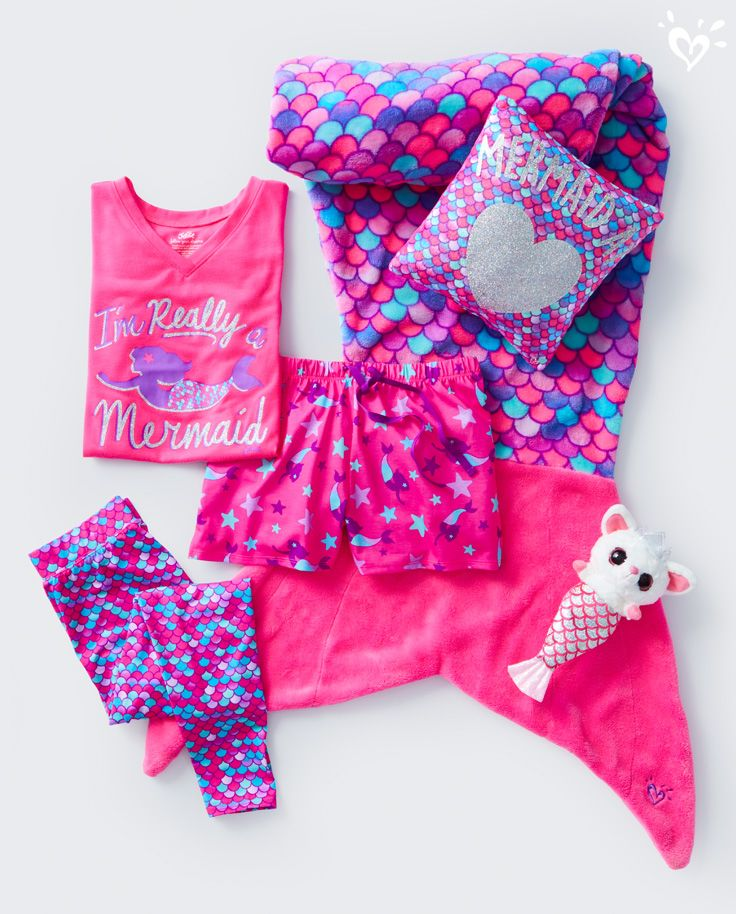 Every sleepover party needs a little mermaid swag!