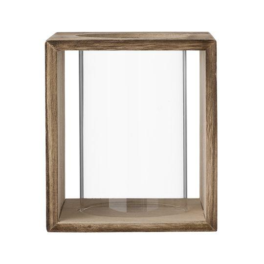 Stylish wood and glass lantern