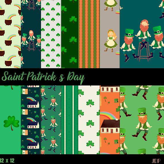 Saint Patrick PaperIrish Paper Ireland Paper Leprechaun