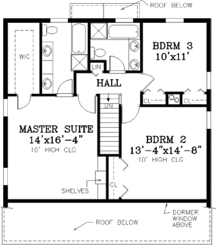 marshfield cape cod home - Second Floor Floor Plans 2