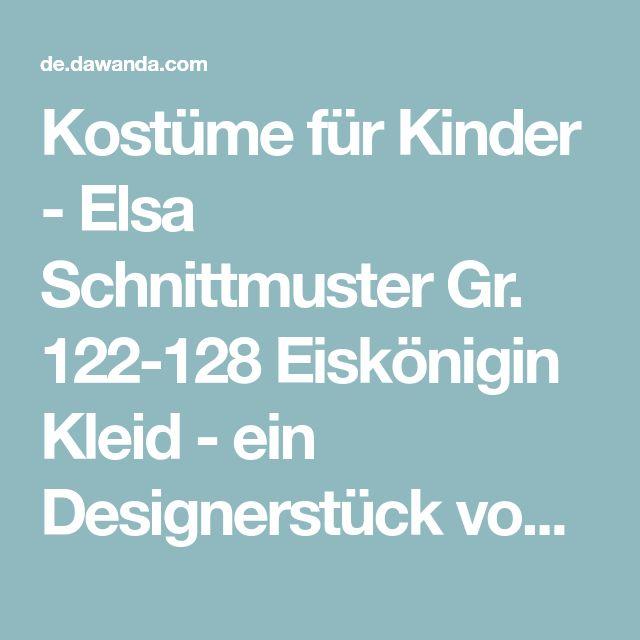 Kostüme für Kinder - Elsa Schnittmuster Gr. 122-128 Eiskönigin Kleid - ein Designerstück von Schereplusnadel bei DaWanda