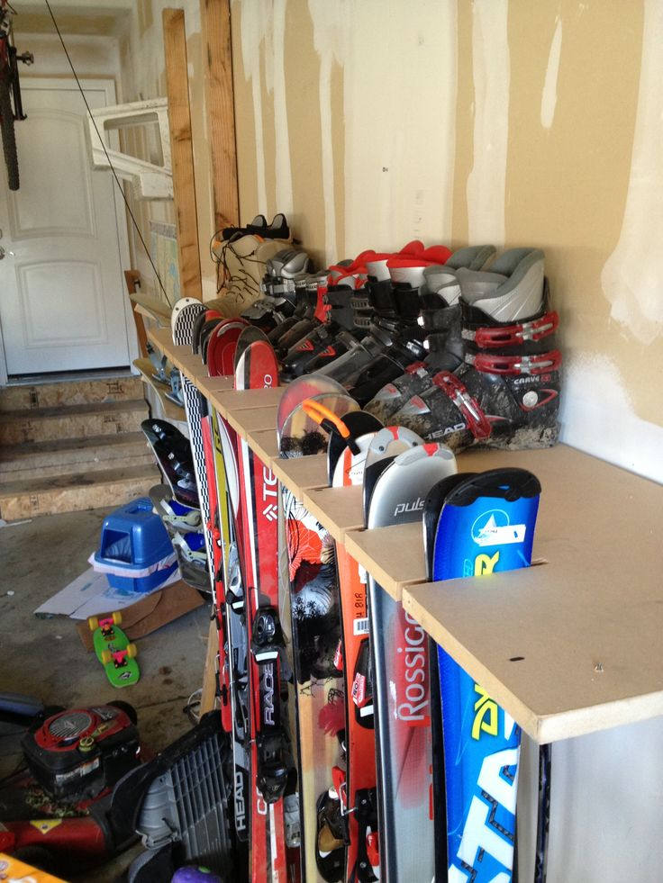garage organization skis - Google Search