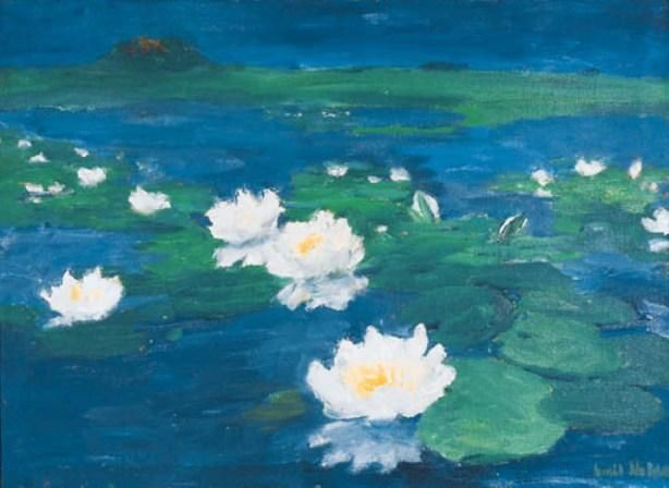 Waterroses de Emile Nolde (1867-1956, Germany)