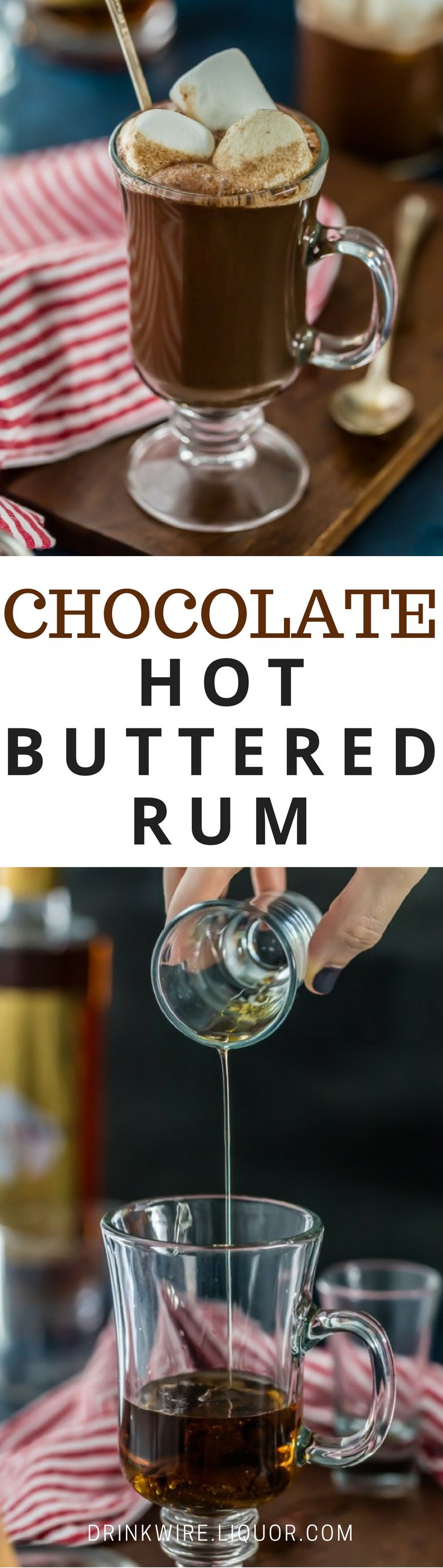 Hot Buttered #Rum With a Sweet, Chocolately Twist? This stuff is perfect for #holiday season or just any winter day.