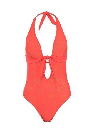 Слитный купальник Marc&Andre кораллового  цвета - это запоминающийся пляжный образ. Модель выполнена из эластичного быстросохнущего материала. Детали: плотные  чашечки, оригинальный золотистый принт. http://j.mp/1t0NksB