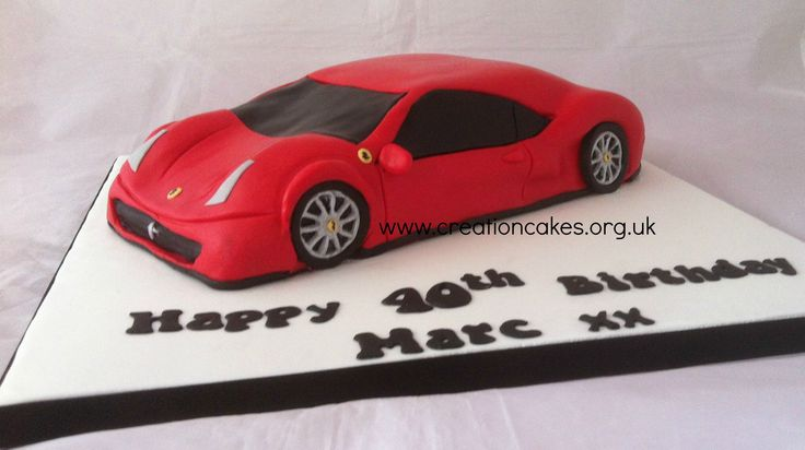 Red Ferrari Cake Images : 219 best images about Birthday Cakes on Pinterest Car ...