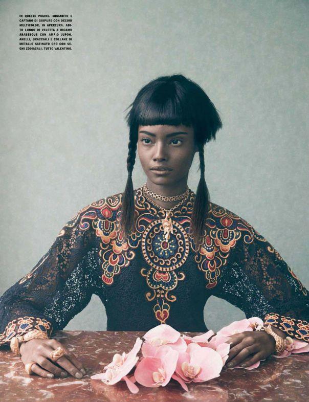 Culture Remix --- Malaika Firth & Lera Tribel by Sølve Sundsbø for Vogue Italia March 2014