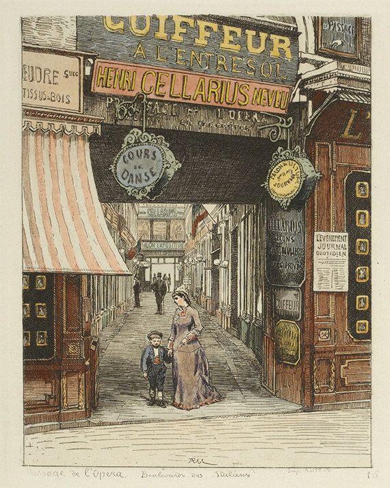 French art  print Paris wall decor Victorian by VictorianWallArt, $18.00