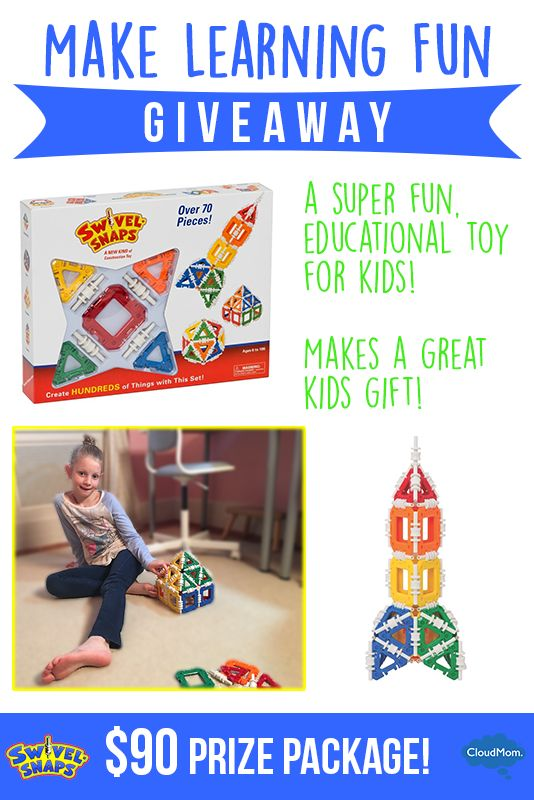 Make learning fun with Swivel-Snaps, a toy that encourages fun with engineering & math plus a giveaway.