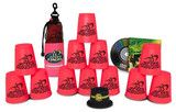 """This set comes with 12 Neon Pink cups in a nylon and mesh bag along with our cool Stacker Training DVD, loaded with instructions, World Championship highlights, Sport Stacking techniques and competitions to help you truly """"Stack Fast!""""  Add a Cup Keeper for $3.00 which is specifically designed to fit on the bottom of your cups to keep them perfectly round."""