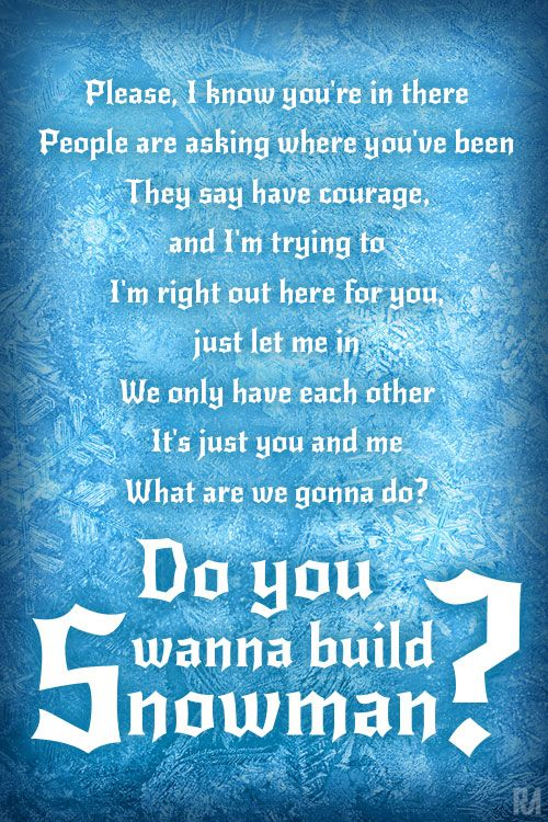 Do You want to build a snowman #Frozen #Music Lyrics # ...