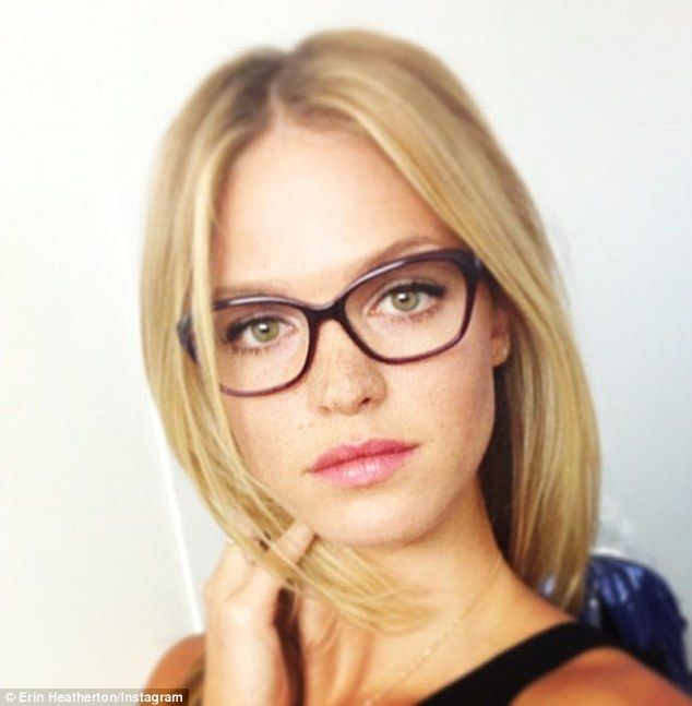 Erin Heatherton rocks geek chic specs at Sydney Fashion Week... before…