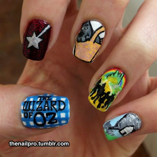 22 best wizard of oz nail art images on pinterest wizard of oz the wizard of oz nails by the nail pro prinsesfo Images