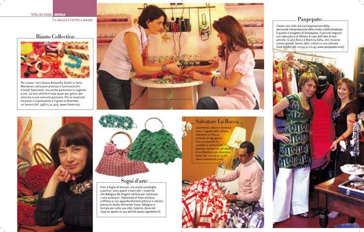 Io e le mie borse su Famiglia Cristiana    www.sognidarte.com    #borse #handbags #handbags #vintage #madeinitaly