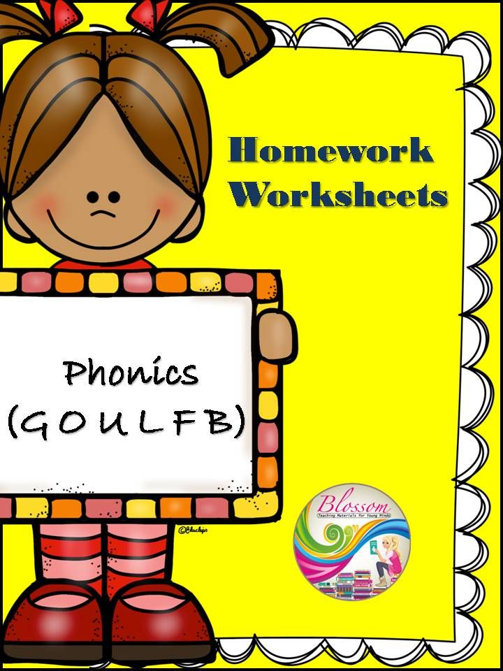 Phonics Worksheets 3 (g,o,u,l,f,b) Jolly phonics