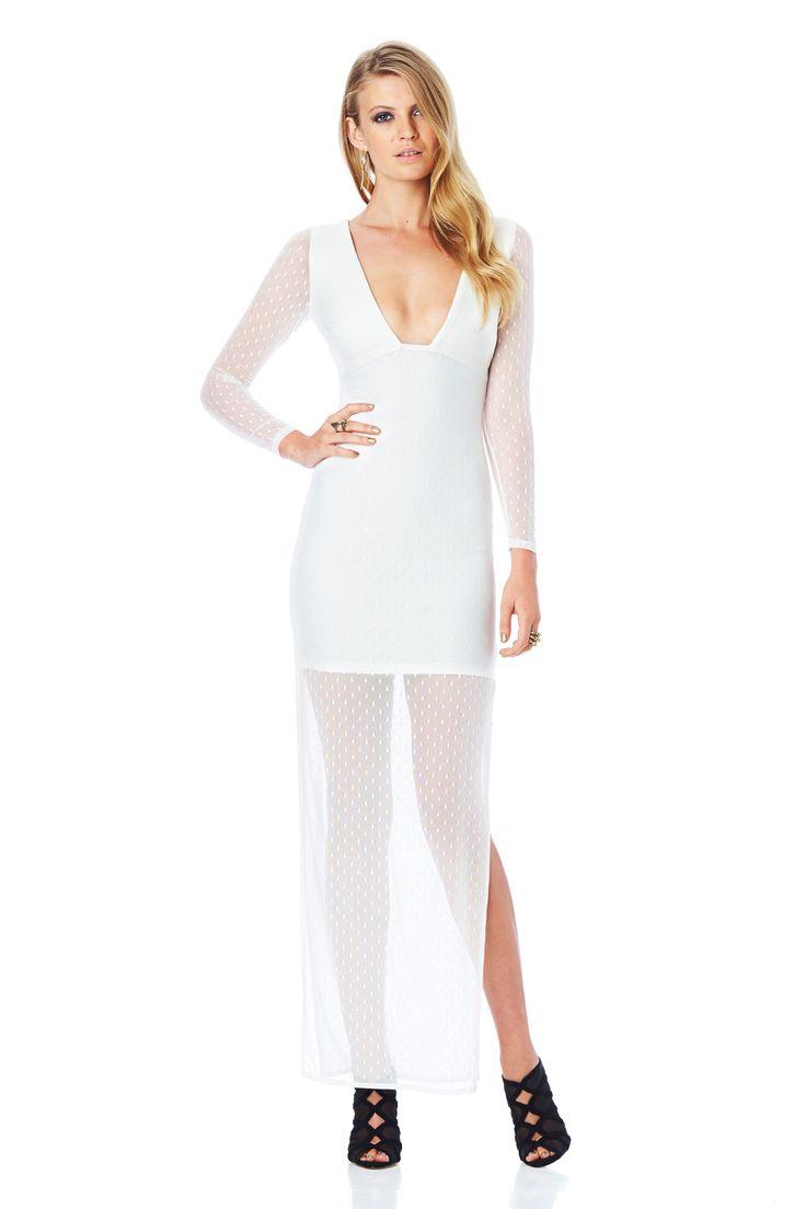 WINK MAXI DRESS (White) #nookie#nw14