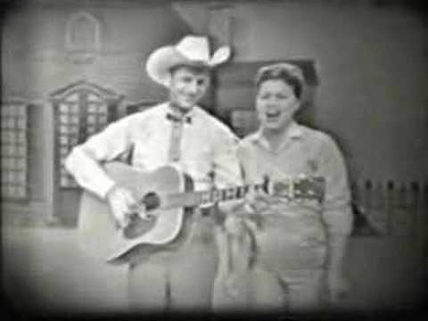 """Patsy Cline and Cowboy Copas """"I'm Hog Tied Over You"""" 1960"""