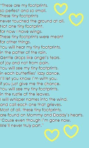This was the poem we chose for Braxtin's Celebration of Life ceremony.
