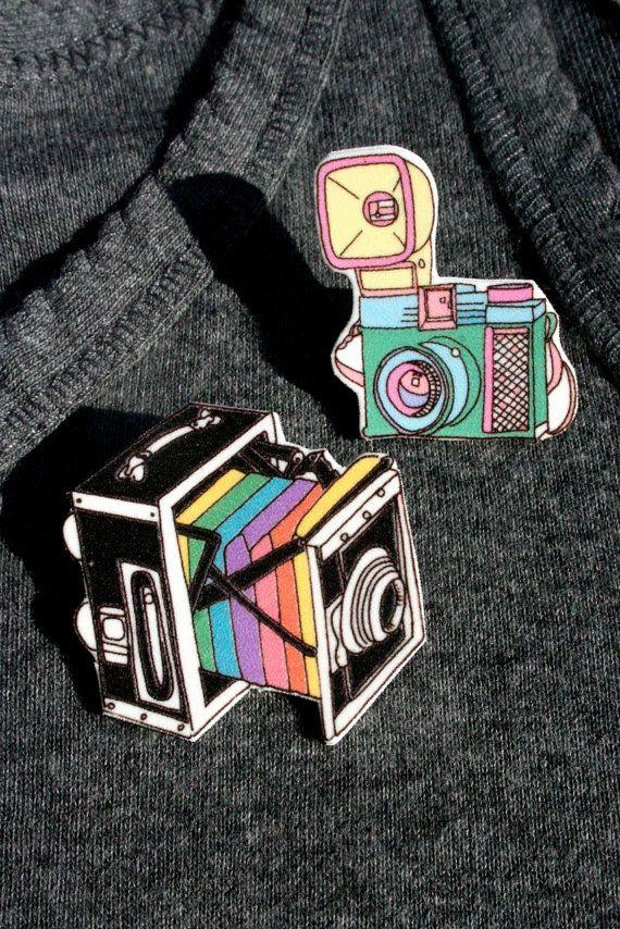 Small Retro Box Camera in Rainbow