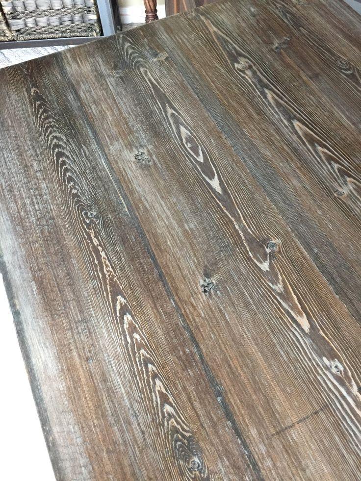 Weathered Oak Driftwood Finish By Dry Brushing Grey