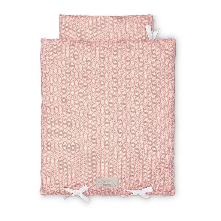 Sängkläder till docksäng (färg Sashiko Blush) från Cam Cam