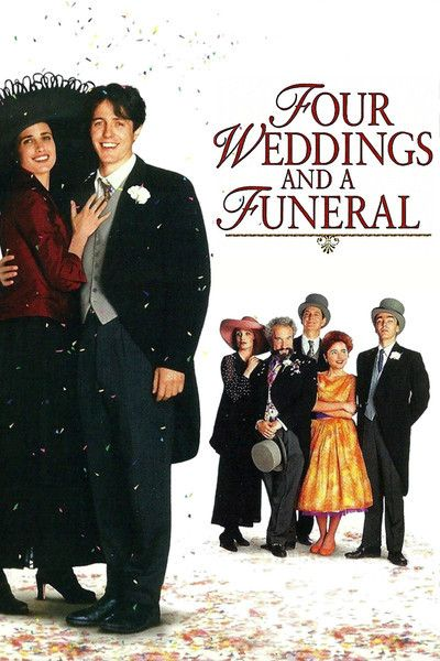 Four Weddings and a Funeral Over the course of five social occasions, 4 weddings and 1 funeral, a committed bachelor must consider the notion that he may have discovered love.