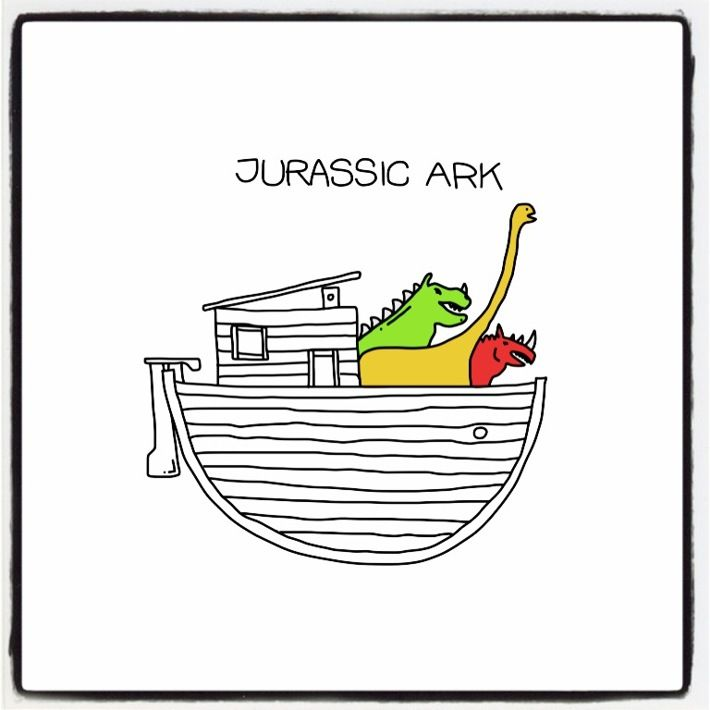 Project Pen 365 is an ongoing exercise. 365 fast sketches, 1 for each day, using iPad mini, Adonit stylus & Adobe Ideas. February 13 - Jurassic Ark (#249)